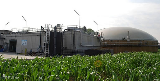 realization fermentation plant with digestate treatment