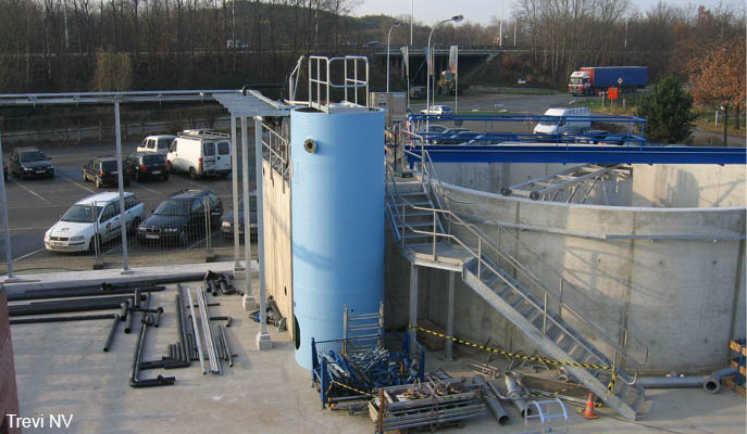 Construction of Biological water treatment